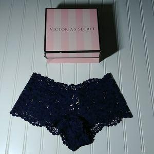 3/$25. Victoria's Secret Navy Lace Shortie Panty